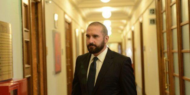 HELLENIC PARLIAMENT, ATHENS, ATTIKI, GREECE - 2017/09/18: Dimitris Tzanakopoulos government spokesman,...