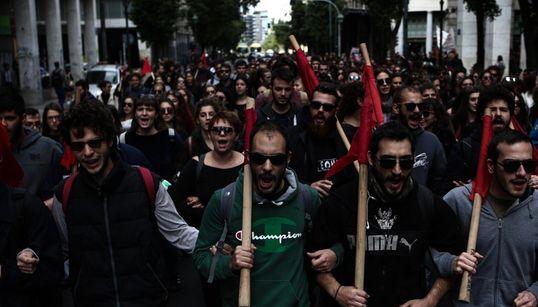 Ένταση στην πορεία των φοιτητών στο κέντρο της