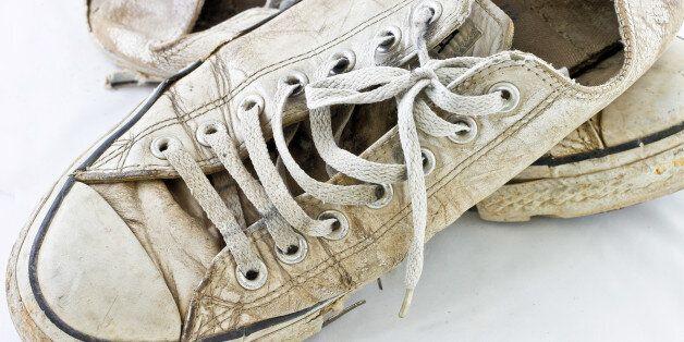 A pair of old sneakers.A pair of old sneakers.