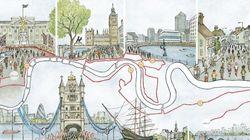 Ένας δρομέας εικονογραφεί τις μαραθώνιες διαδρομές που τρέχει και δημιουργεί μικρά έργα