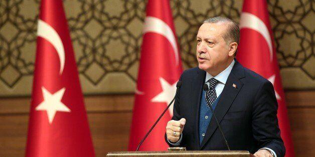 ANKARA, TURKEY - NOVEMBER 02 : (----EDITORIAL USE ONLY MANDATORY CREDIT - ' TURKISH PRESIDENCY / YASIN...