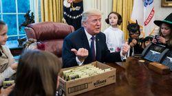 Όταν ο Trump συνάντησε παιδιά δημοσιογράφων για το Halloween, θεώρησε καλή ιδέα να σχολιάσει τα κιλά