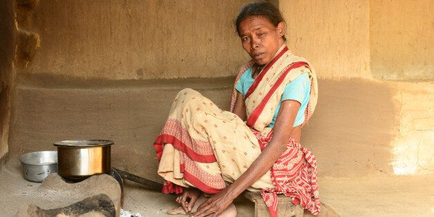 WEST SINGHBHUM, INDIA - DECEMBER 17: Phoolbani, a victim of witch hunting stay in a Jeevari village,...