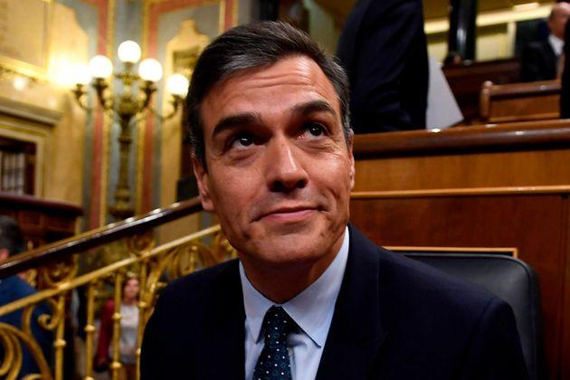 Pedro Sánchez el pasado miércoles en el