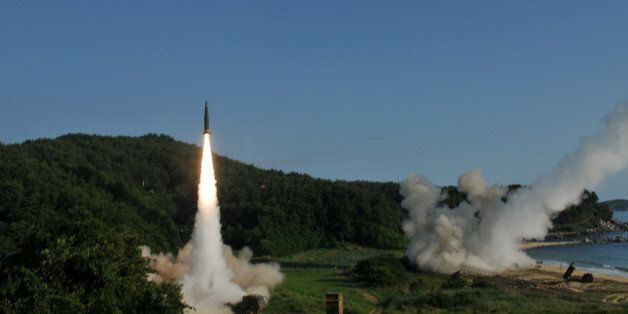 United States and South Korean troops utilizing the Army Tactical Missile System (ATACMS) and South Korea's...