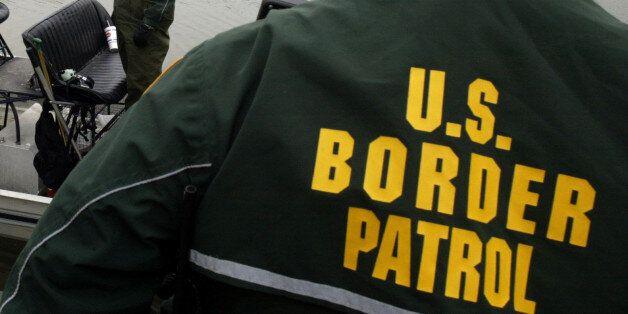 EAGLE PASS, TX - FEBRUARY 05: Eagle Pass Border Patrol use hover boats to patrol the Rio Grande U.S Mexico...