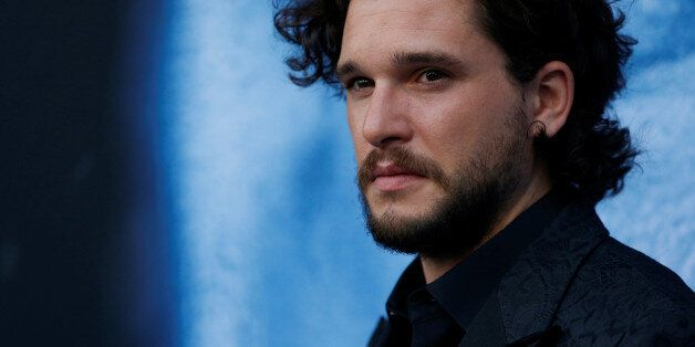 Cast member Kit Harington poses at a premiere for season 7 of the television