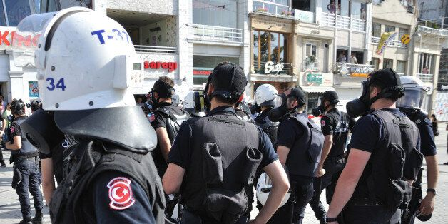 Istanbul, Turkey - May 31, 2013: The first small-scale clashes between the protesters and the police...