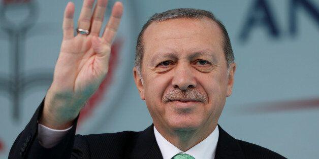 Turkish President Tayyip Erdogan attends opening ceremony of Recep Tayyip Erdogan Imam Hatip School in...