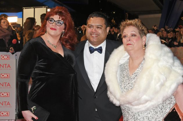 Paul with fellow Chasers Jenny Ryan and Anne Hegerty at the