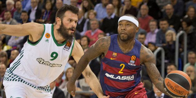 Tyrese Rice during the basket Turkish Airlines Euroleague match between FC Barcelona and Panathinaikos...