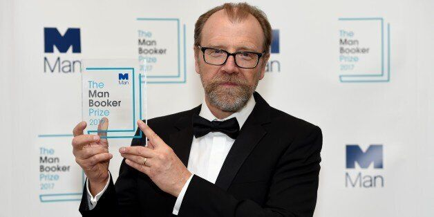 LONDON, UNITED KINGDOM - OCTOBER 17: Winning author George Saunders is pictured with his award at The...
