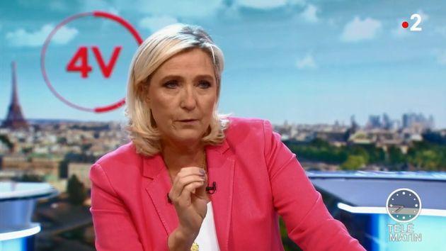 Marine Le Pen sur le plateau de France 2 jeudi 19