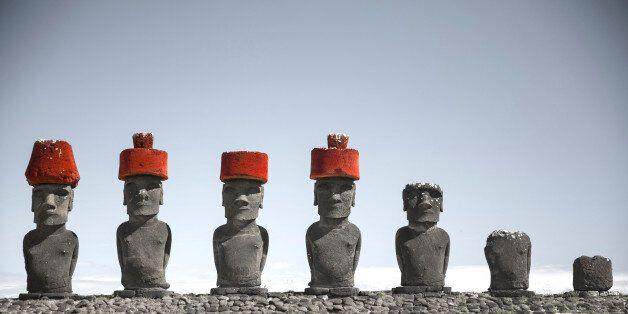 Moais at Ahu Tongariki (Easter island,