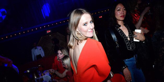 PARIS, FRANCE - MARCH 04: Ksenia Sobchak attends Natalia Vodianova's birthday Vogue Cabaret Party as...