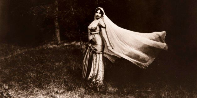Portrait of Mata Hari (1876-1917) dancing. Private collection. c77. (Photo by: Christophel Fine Art/UIG...