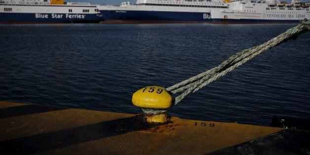 Passenger ships are moored at the port of Piraeus, near Athens, Greece, November 2, 2015. Greek seamen...