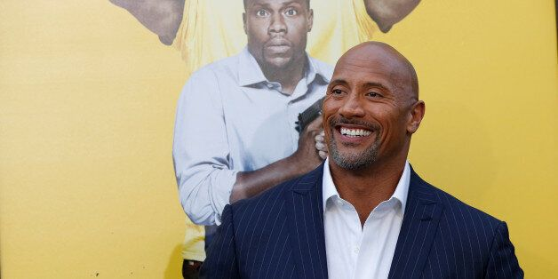 Cast member Dwayne Johnson poses at the premiere of the