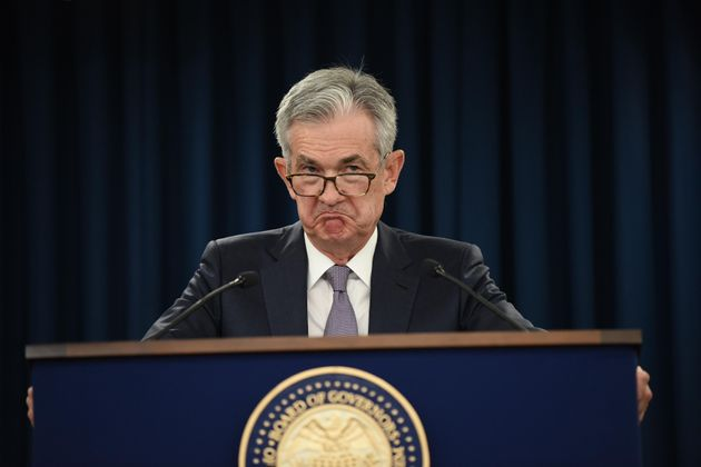 WASHINGTON, DC - SEPTEMBER 18: Federal Reserve Board Chairman Jerome Powell speaks during a news conference...