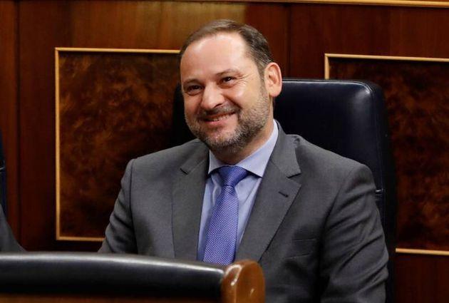 El ministro de Fomento en funciones, José Luis Ábalos, en el