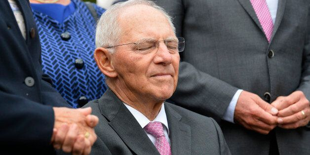 German Finance Minister Wolfgang Schaeuble attends festivities to celebrate his 75th birthday on September...