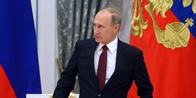 MOSCOW, RUSSIA - OCTOBER,3 (RUSSIA OUT) Russian President Vladimir Putin speeches during the council...