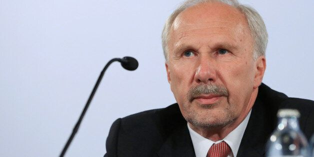 Ewald Nowotny, governor of Austria's central bank and European Central Bank (ECB) governing council member,...