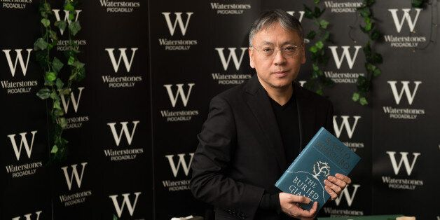 LONDON, ENGLAND - MARCH 02: Kazuo Ishiguro meets fans and signs copies of his new novel 'The Buried Giant'...