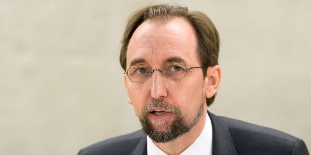 United Nations High Commissioner for Human Rights, Jordanian Zeid Ra'ad Al Hussein addresses a session...