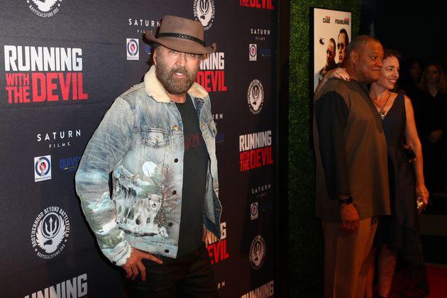 Ο Νίκολας Κέιτζ στην πρεμιέρα της νέας του ταινίας «Running with the Devil».
