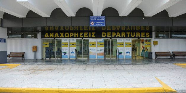 Photo show the Heraklion International Airport, Nikos Kazantzakis (Greek writer) the second busiest airport...