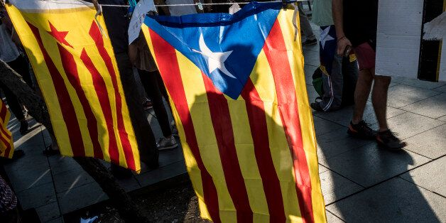 Few days before the prohibited referendum from the Spanish government, students from the University of...