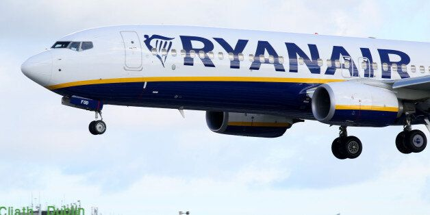 A Ryanair plane lands at Dublin Airport on September 21, 2017. Ryanair chief executive Michael O'Leary...