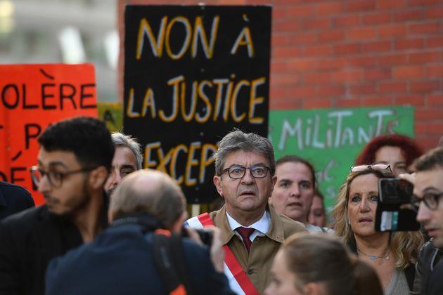 Jean-Luc Mélenchon, le jour de son procès à Bobigny