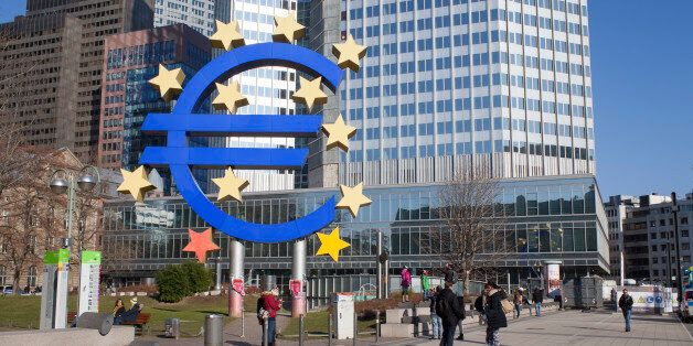 Frankfurt am Main, Germany - February 7, 2015: photo of European Central Bank, one of the world's most...