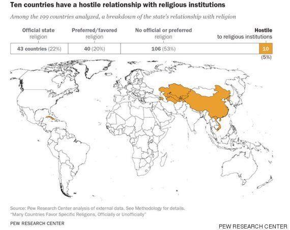 Ο παγκόσμιος θρησκευτικός χάρτης. Ποια θρησκεία ασπάζεται η κάθε