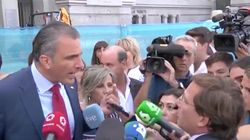 Bronca entre el alcalde de Madrid y Ortega Smith (Vox) ante los periodistas por la violencia de
