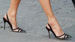 El 'drama' de Letizia con los zapatos que llevó al Teatro