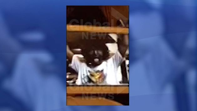 A screenshot of the video published by Global News on Thursday shows Justin Trudeau in blackface