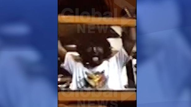 A screenshot of the video published by Global News on Thursday appearing to show Justin Trudeau in blackface makeup.