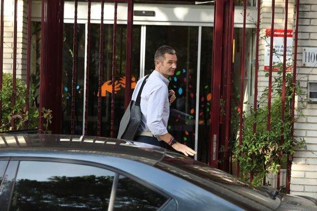 Iñaki Urdangarin, a su llegada al Hogar Don Orione de Pozuelo de Alarcón (Madrid) para cumplir su primer...