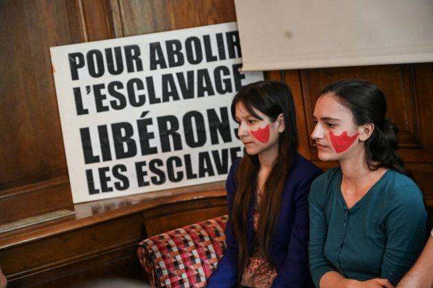 Procès de quatorze militants de Boucherie Abolition, un collectif animaliste qui demande la fin...