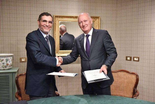 De gauche à droite, Saïd Ibrahimi, CEO de CFC etLuis Herrero, président de BCFE,...