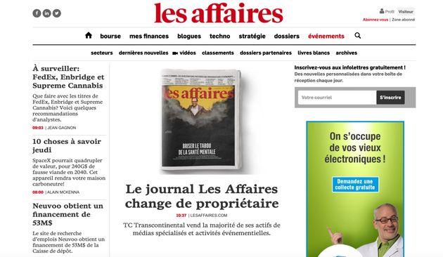 Le magazine Les Affaires fait partie des médias qui passent chezGroupe