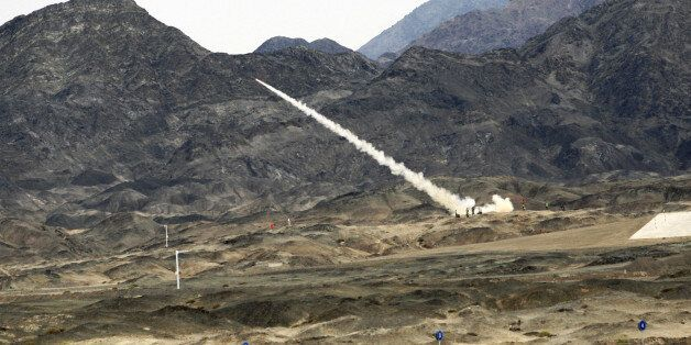 XINJIANG, CHINA - AUGUST 05: (CHINA MAINLAND OUT)An international air-defense missile contest is held...