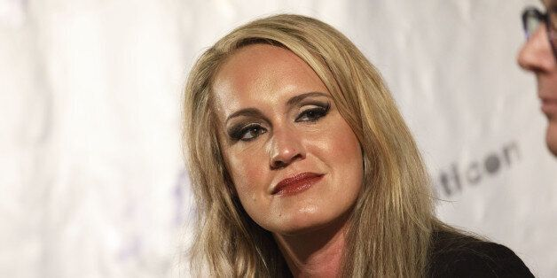 Political commentator Scottie Nell Hughes listens during the Politicon convention inside the Pasadena...