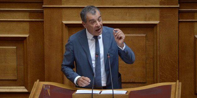 HELLENIC PARLIAMENT, ATHENS, ATTIKI, GREECE - 2017/08/01: Stavros Theodorakis, President of Potami party,...