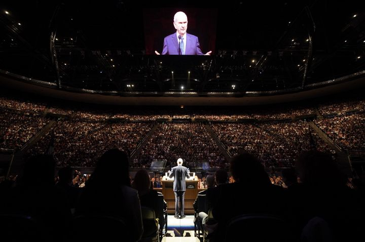 President Russell M. Nelson of The Church of Jesus Christ of Latter-day Saints  speaks at Brigham Young University in Pr