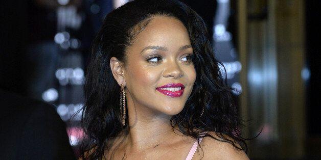 MADRID, SPAIN - SEPTEMBER 23: Rihanna attends the Fenty Beauty by Rihanna presentation at Callao Cinemas...