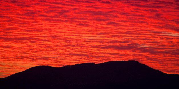 A beautiful sunset panorama in